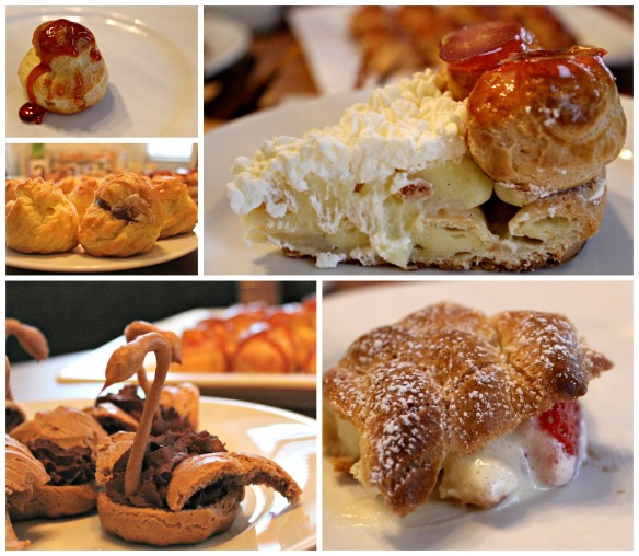 assortment of choux