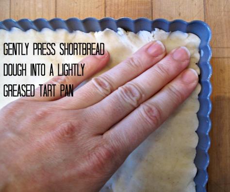 press the dough into your pan